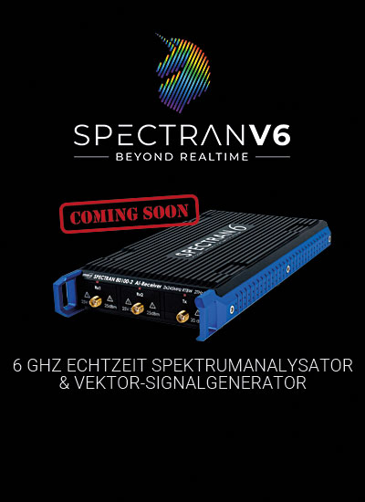 Aaronia SPECTRAN V6 Spectrum Analyzer is coming soon